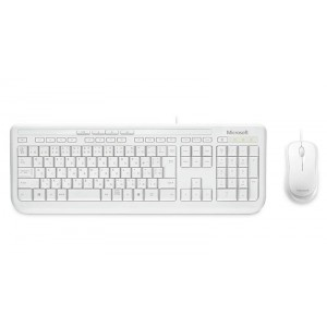 Microsoft White Desktop Keyboard&Mouse